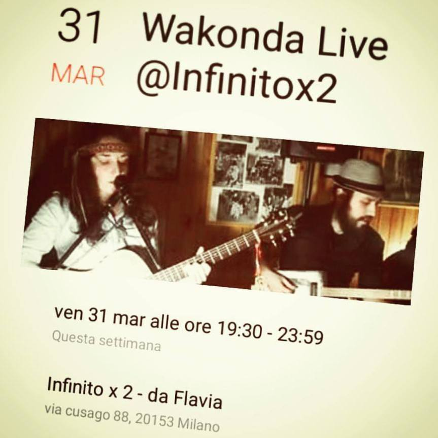 "Wakonda ""Live @infinitoX2"""